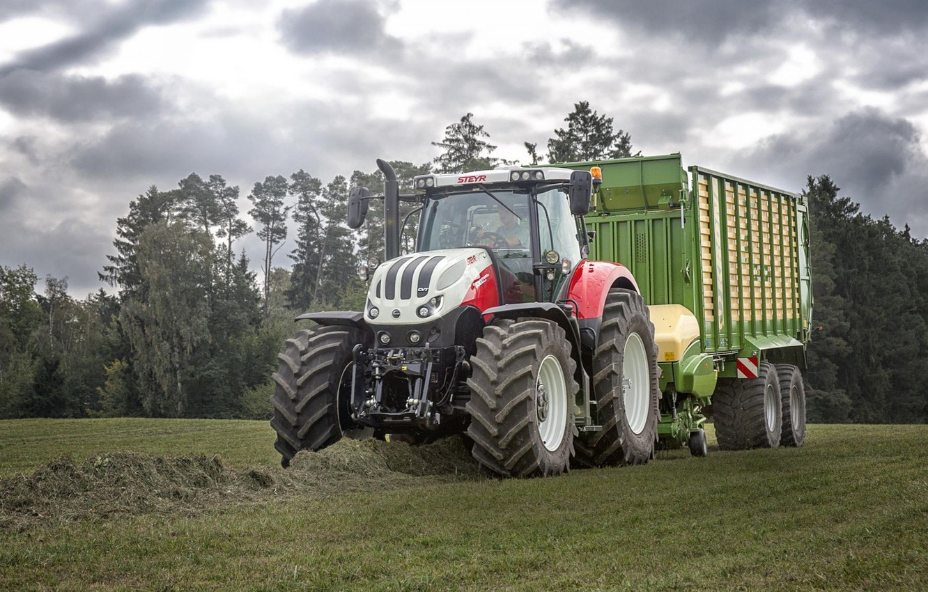 Wallpaper wallpaper tractor agriculture farming steyr images 1332x850