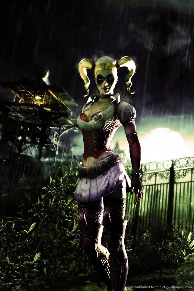 Download Harley Quinn In Batman Arkham Asylum Wallpaper For iPhone 4 640x960