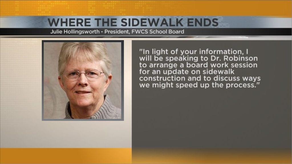 FWCS school board disability advocate react to ABC21 sidewalk 1024x576