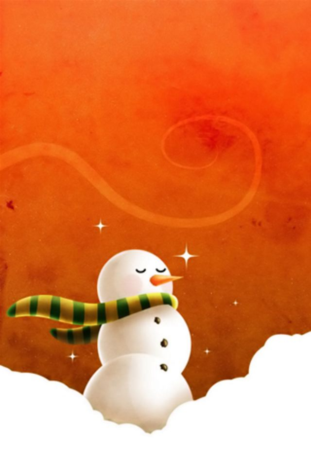 Christmas Snowman iPhone Wallpaper HD 640x960