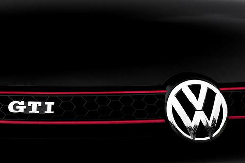 Volkswagen Gti Logo Wallpaper 500x333