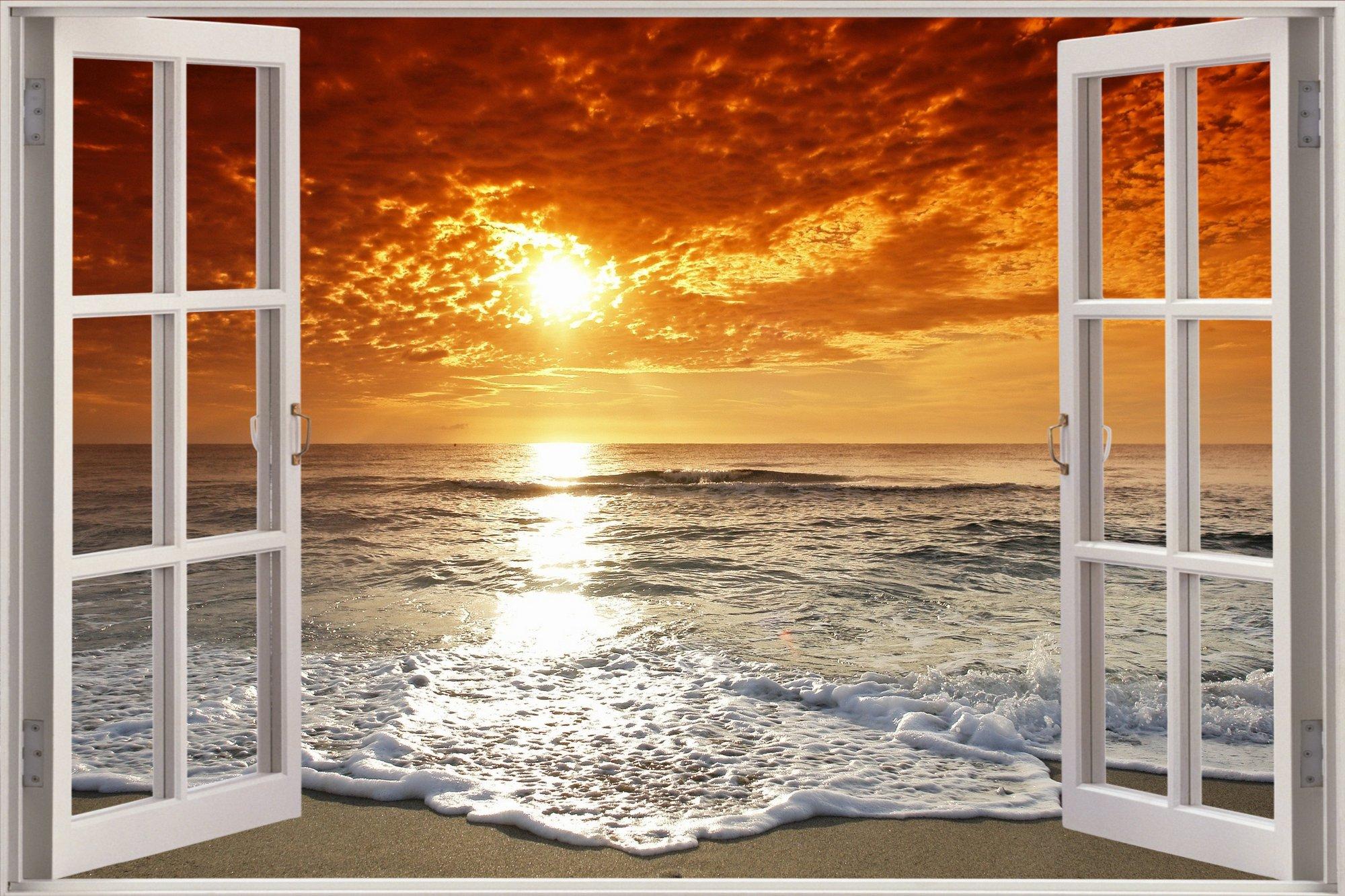 Окно с видом на море картинки