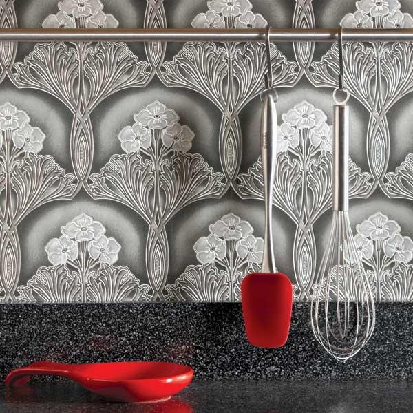 Ideas for the Kitchen Wallpaper Backsplash 600x600