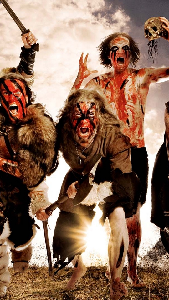 Download wallpaper 540x960 turisas arm skull image scream 540x960