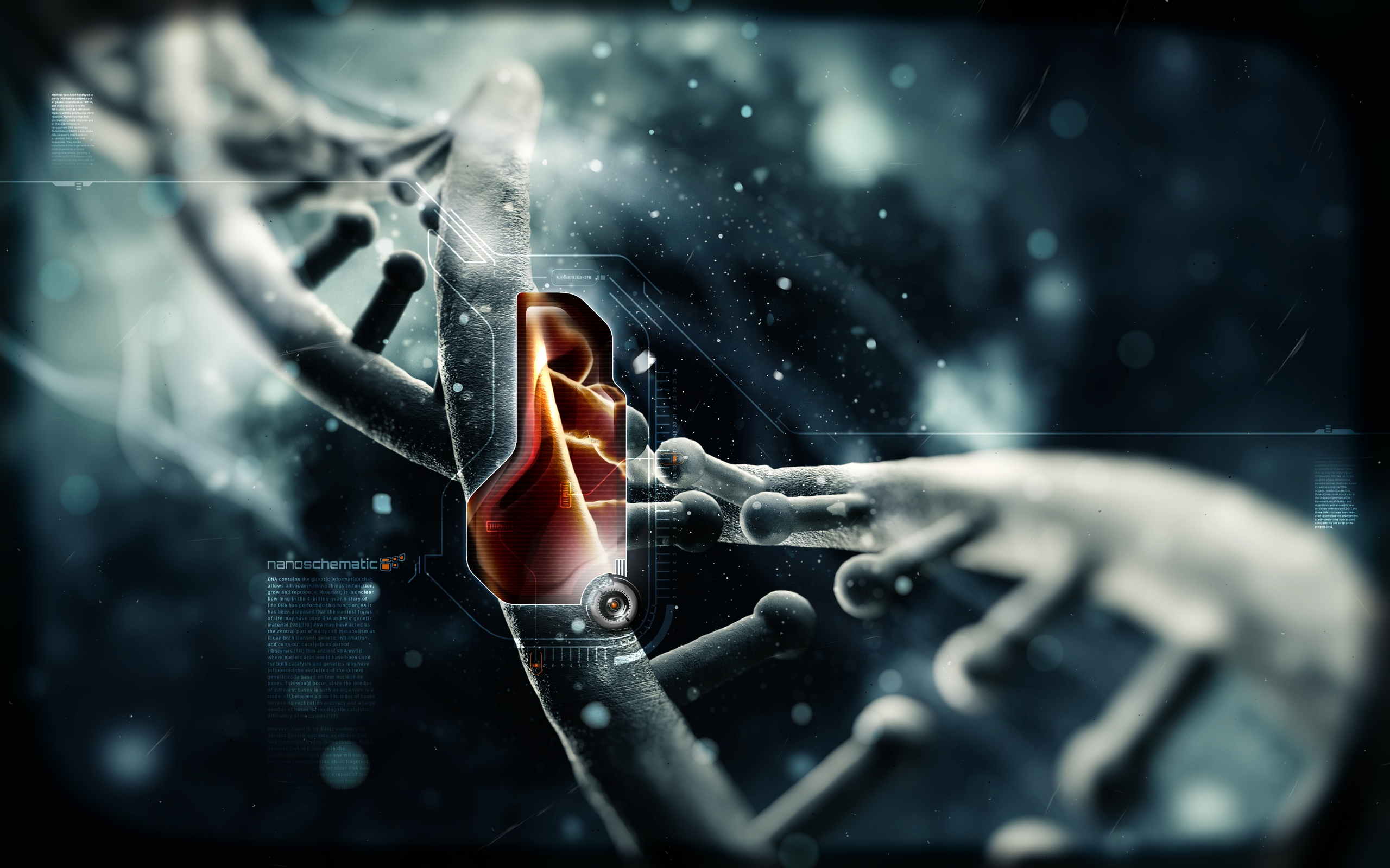 Nanoschematic Dna HD Wallpaper 2560x1600