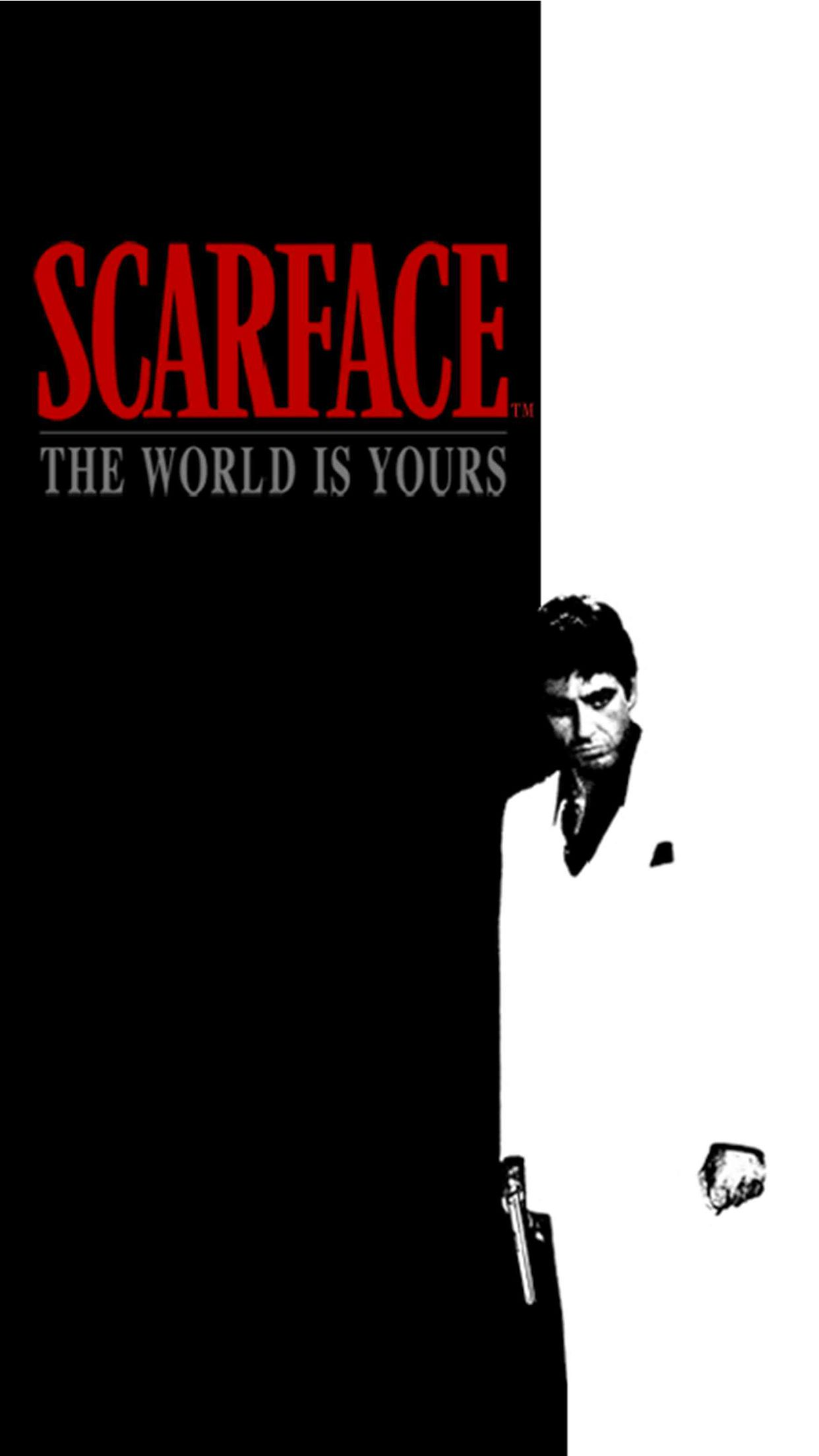 Scarface iPhone 3Wallpapers Parallax Favor tattos in 2019 1242x2208