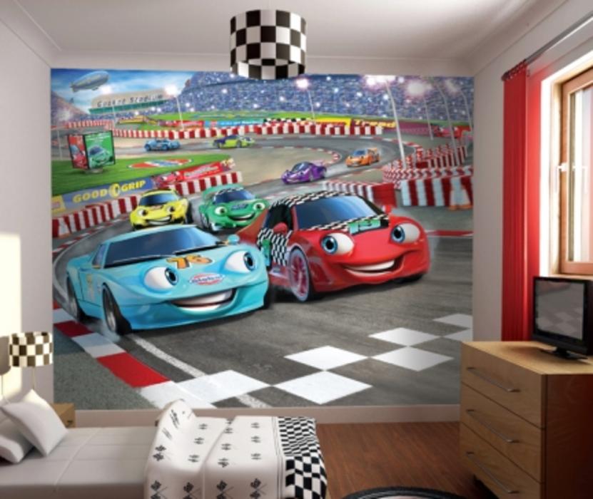 Childrens Rooms Disney Cars Racing Cars Wallpaper Mural 831x700