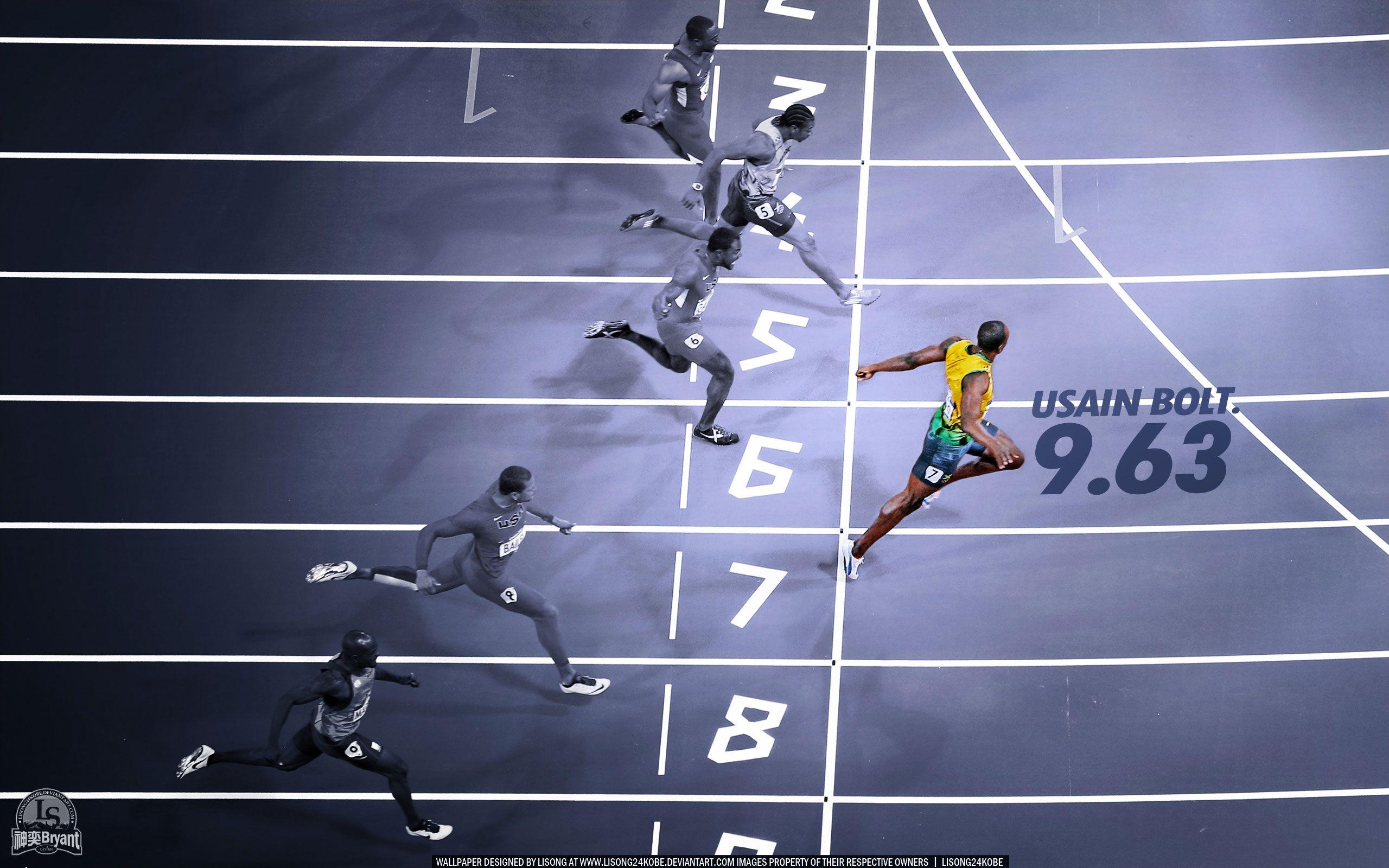Free Wallpapers - Usain Bolt 2012 Olympics Record 2560x1600 wallpaper
