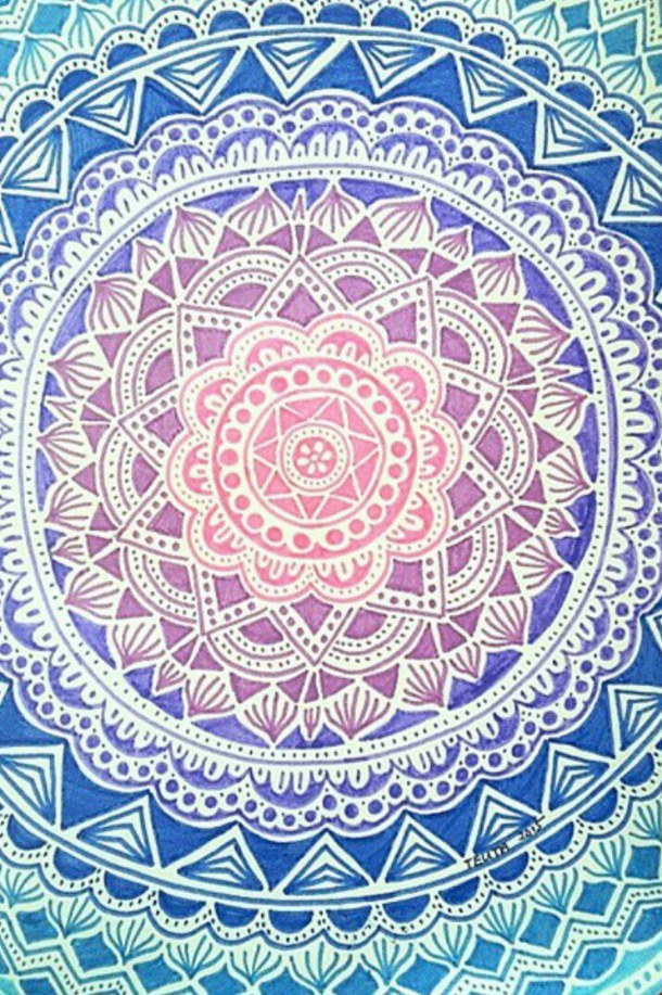 background colours mandala pattern wallpaper 610x917