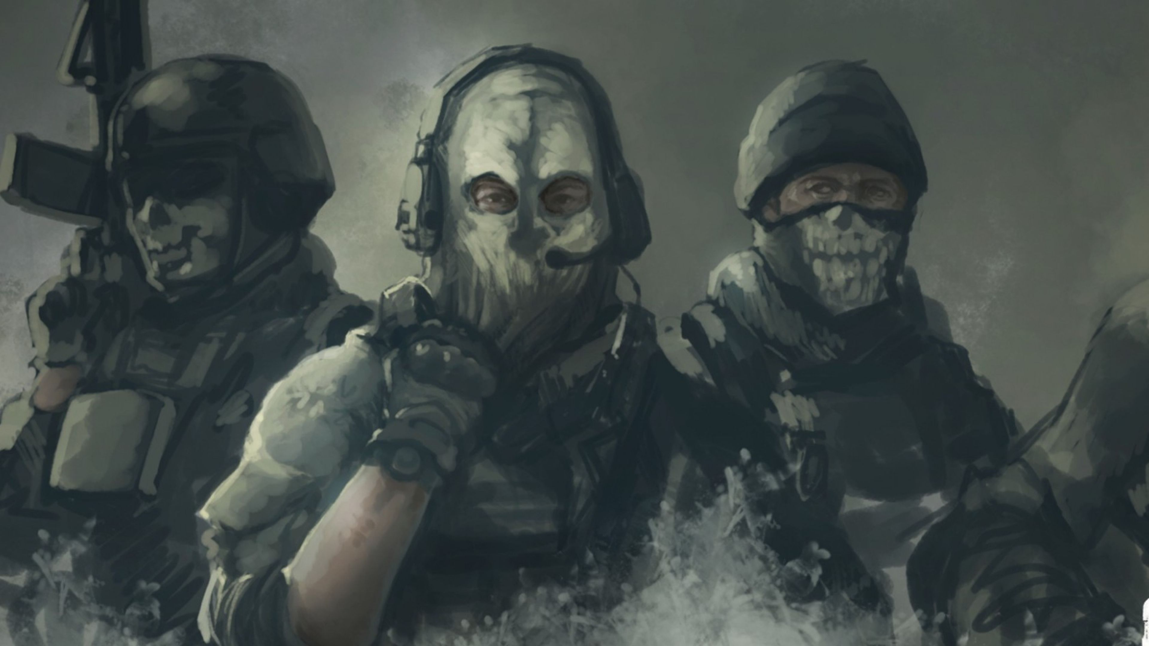 Download Wallpaper 3840x2160 Call of duty Ghosts Art 4K Ultra HD 3840x2160