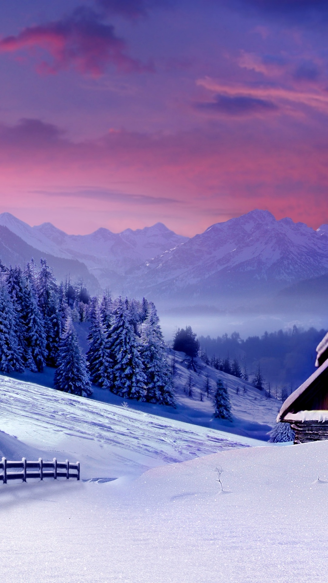 Winter Landscape 4K Ultra HD wallpaper 4k WallpaperNet 1080x1920
