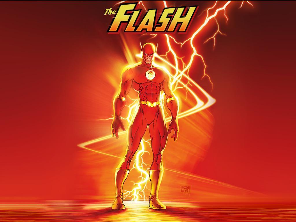 flash papel de parede sobre o heri de quadrinho flash 1024x768