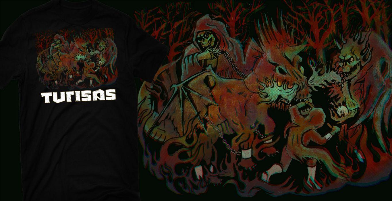 TURISAS folk metal heavy poster reaper dark evil skull f wallpaper 1365x700