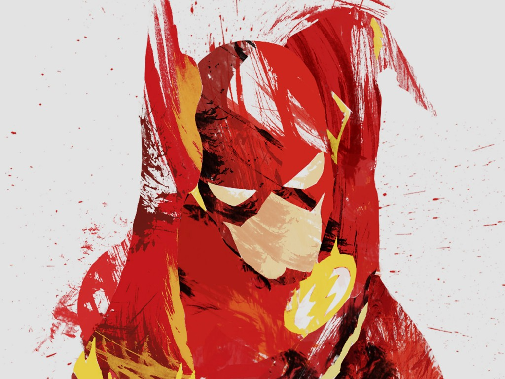 Download The Flash Illustration HD wallpaper for 1024 x 768 1024x768