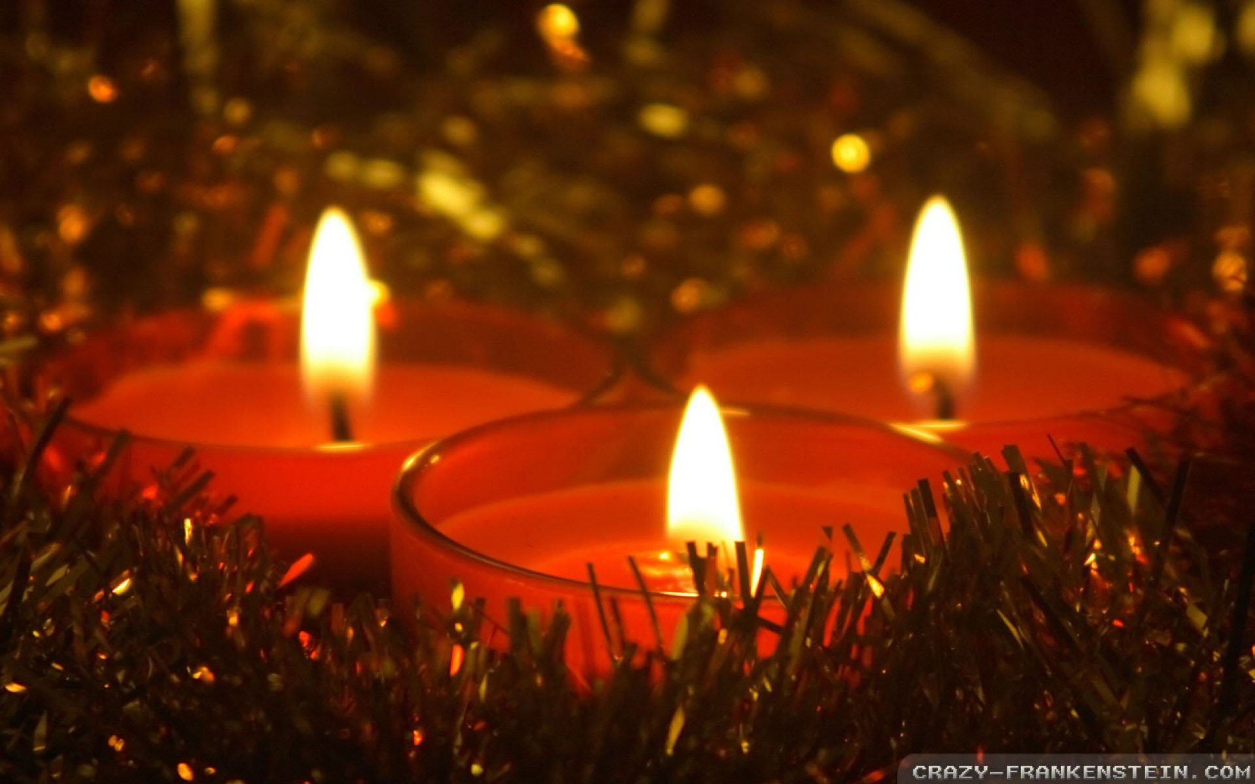 Christmas Candles Crazy Frankenstein Wallpapers wallpapers backgrounds 2560x1600