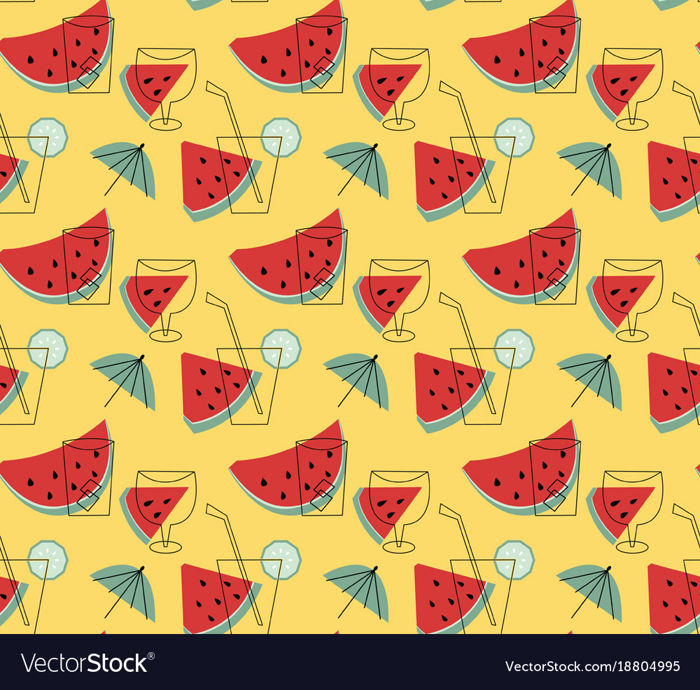 Summer lemonade with watermelon wallpaper Vector Image 1000x986