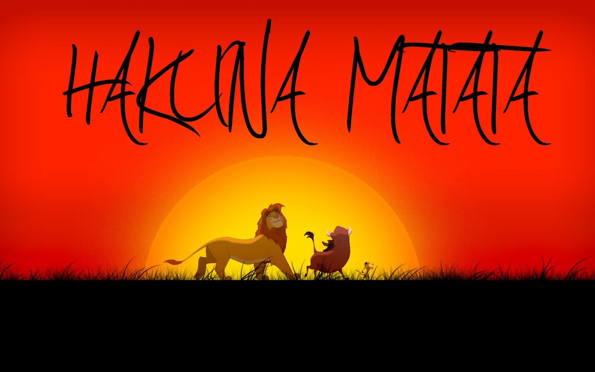 Hakuna matata pumba the lion king timon wallpaper 141326 1920x1200