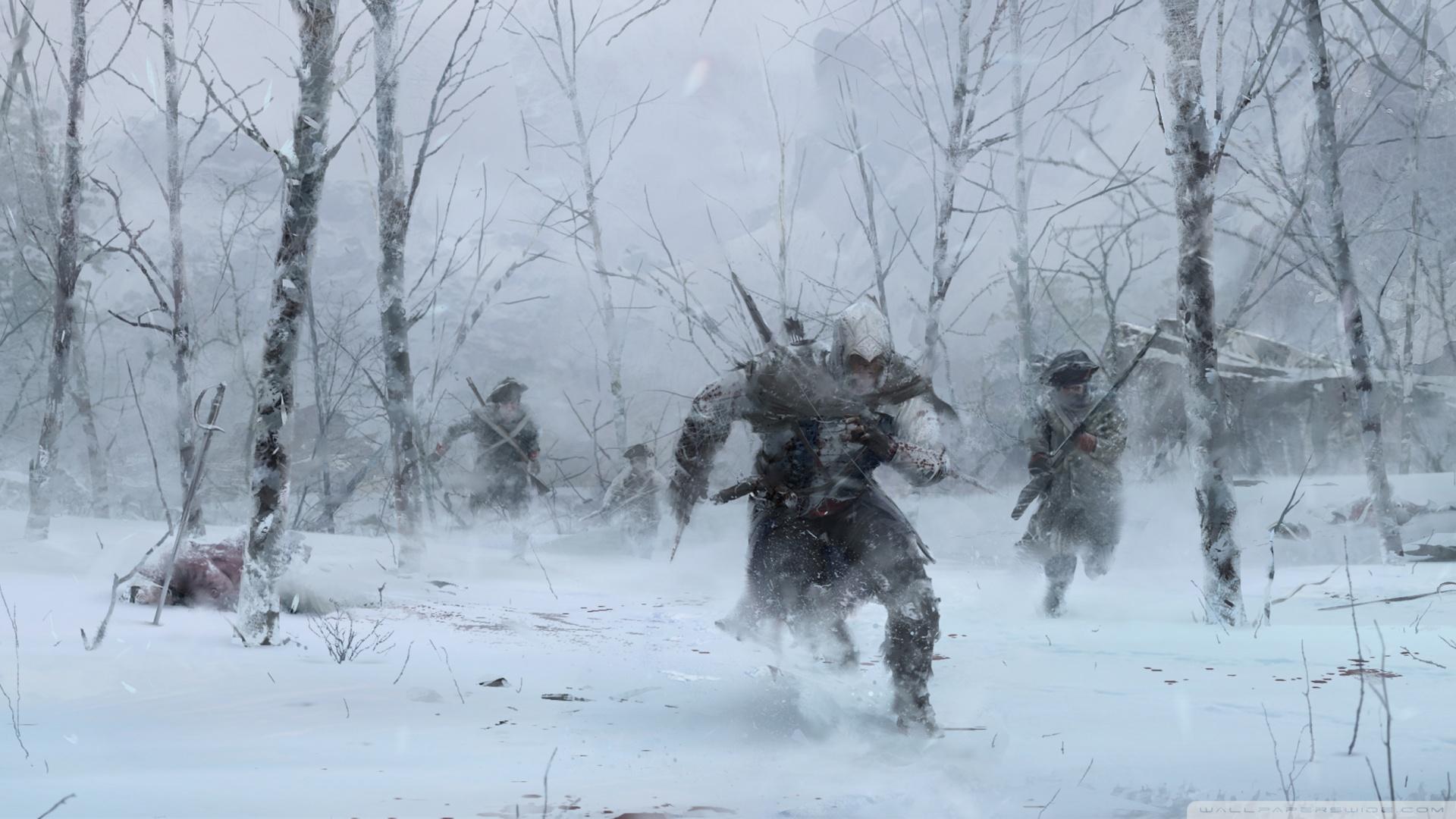 assassins creed iii winter wallpaper 1920x1080   assassins creed iii 1920x1080