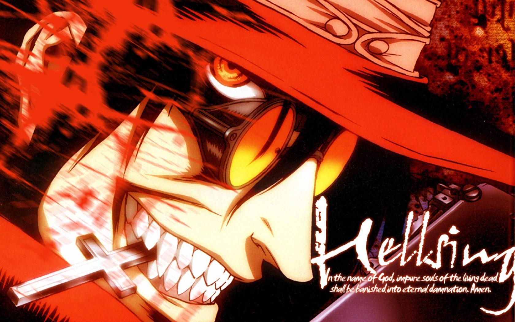 Hellsing,alucard,smile,eyes
