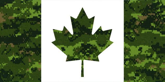 Cadpat Canadian Flag by NetVideoTube 634x317