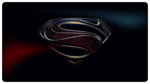 Man of steel logo wallpaper Flickr   Photo Sharing 500x282