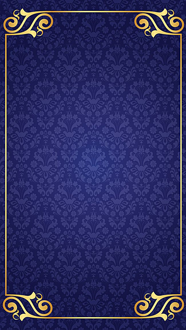 Classical Retro Classic Blue Background Blue flowers background 650x1155