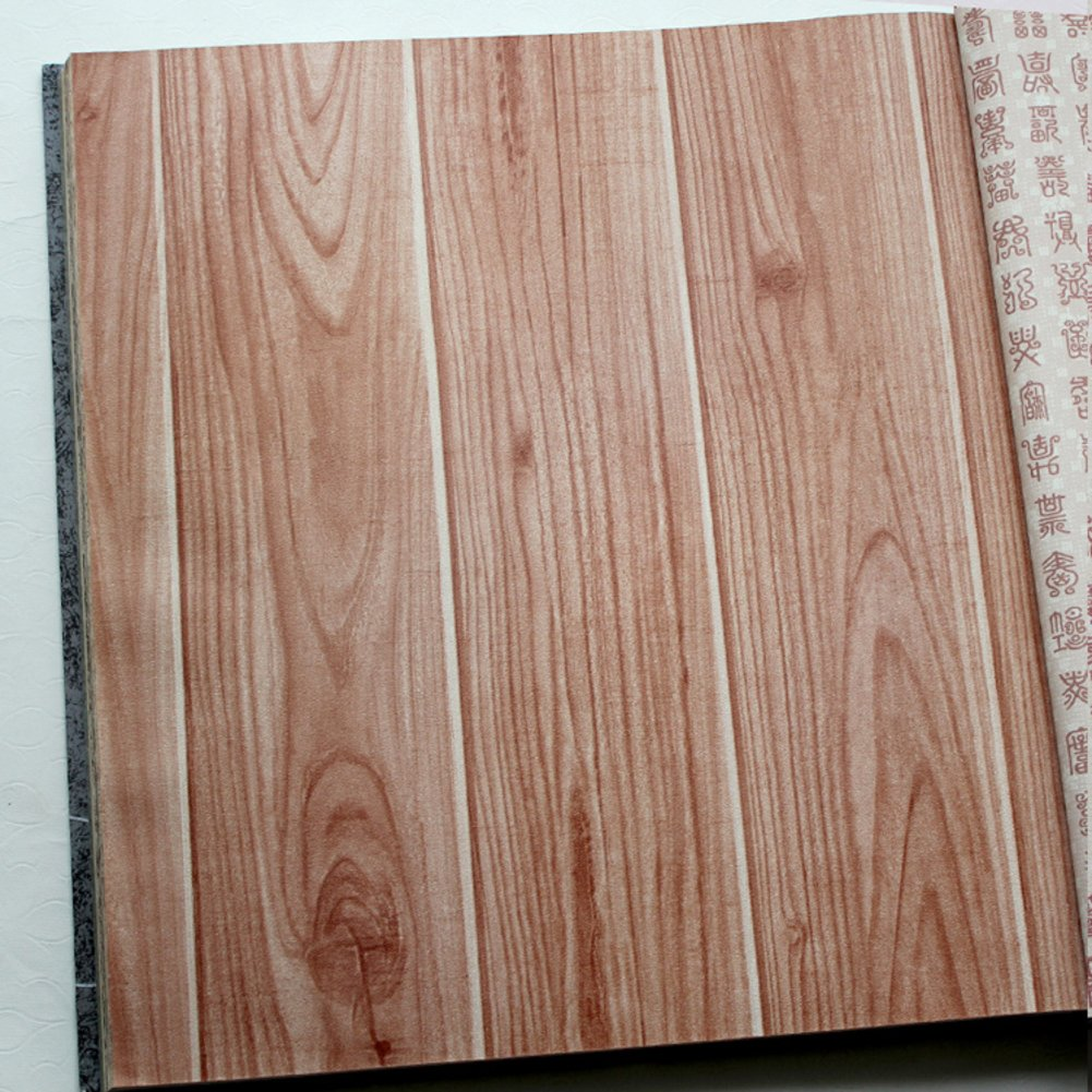 DXGFX American retro Chinese style imitation wood wallpaper den 1001x1001