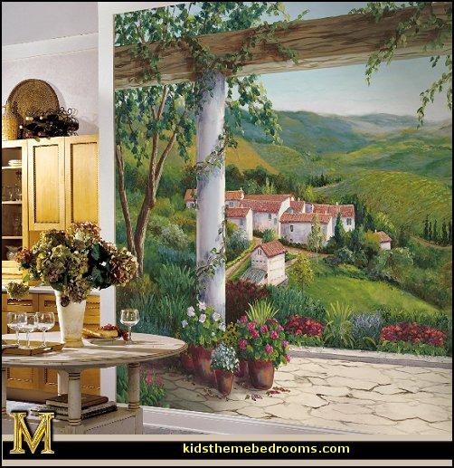 Villawallpapermural ItalianVillawallpapermural Tuscanystylejpg 502x517