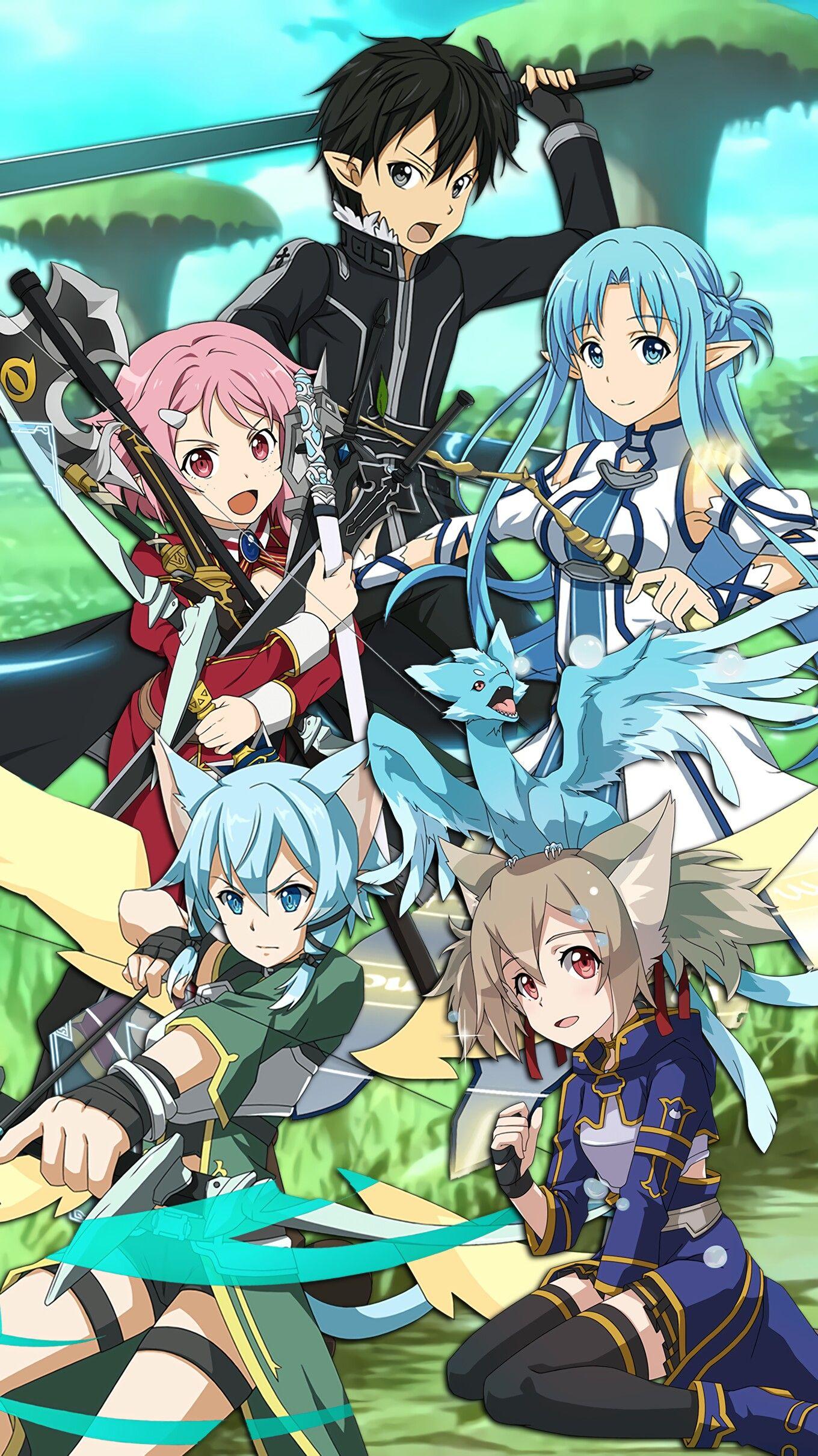 Free Download Alo Sword Art Online Wallpaper Kirito Lizbeth Asuna