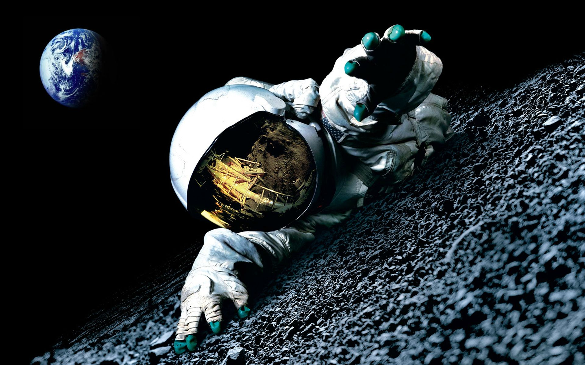 Free Download Man On The Moon Image To Desktop And Wallpaper