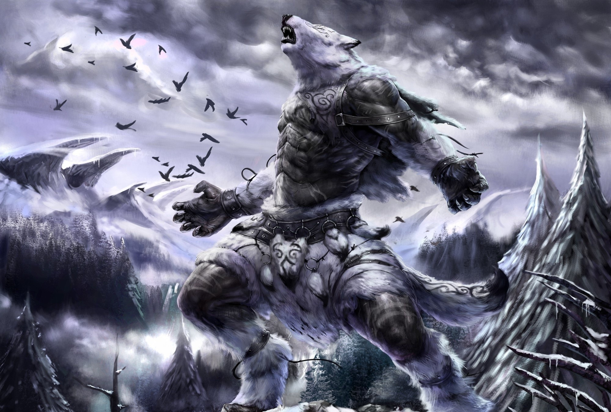 Pics Photos   Red Wolf Beast Hd Wallpaper 2000x1349
