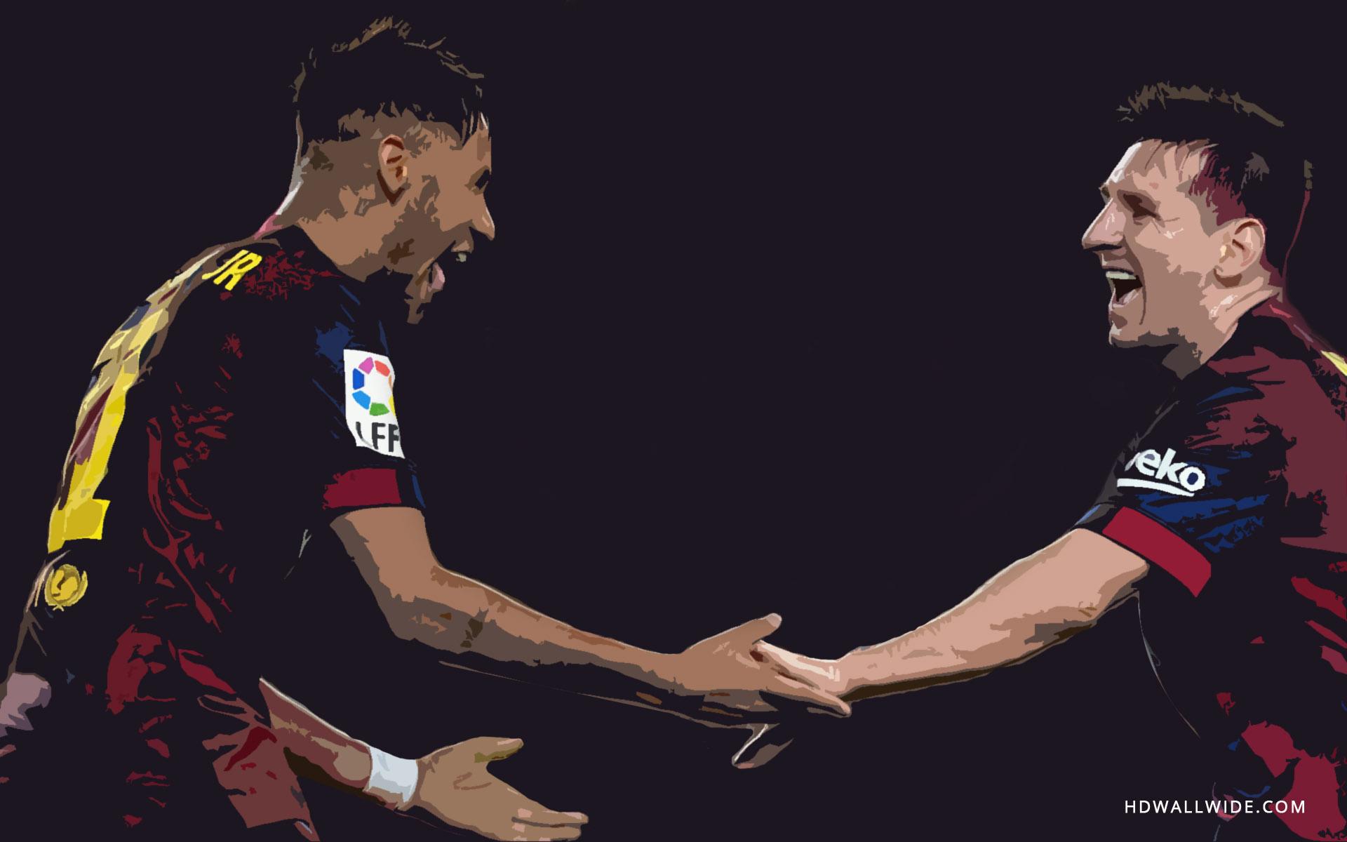 Free Download Wallpaper Neymar Messi Goal Celebrations Wallpaper