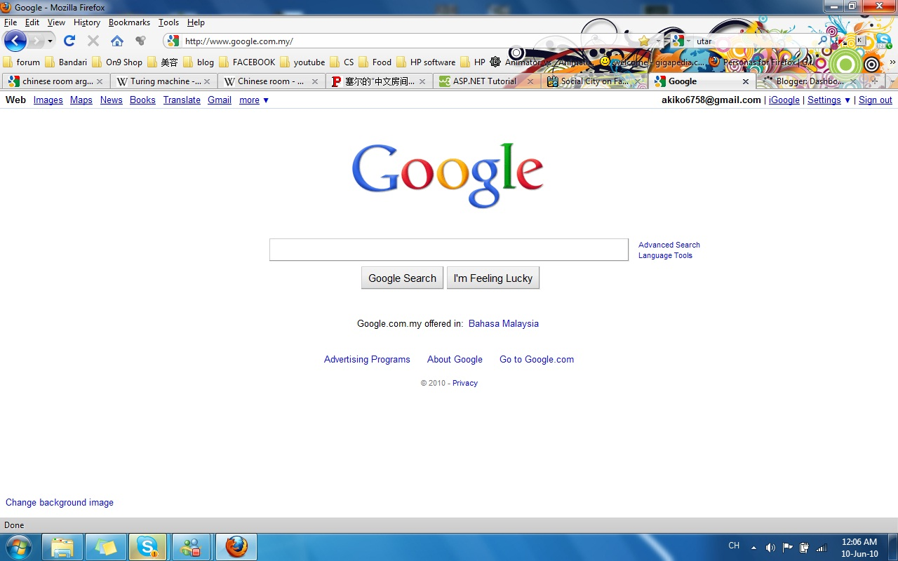 how to change chrome homepage background
