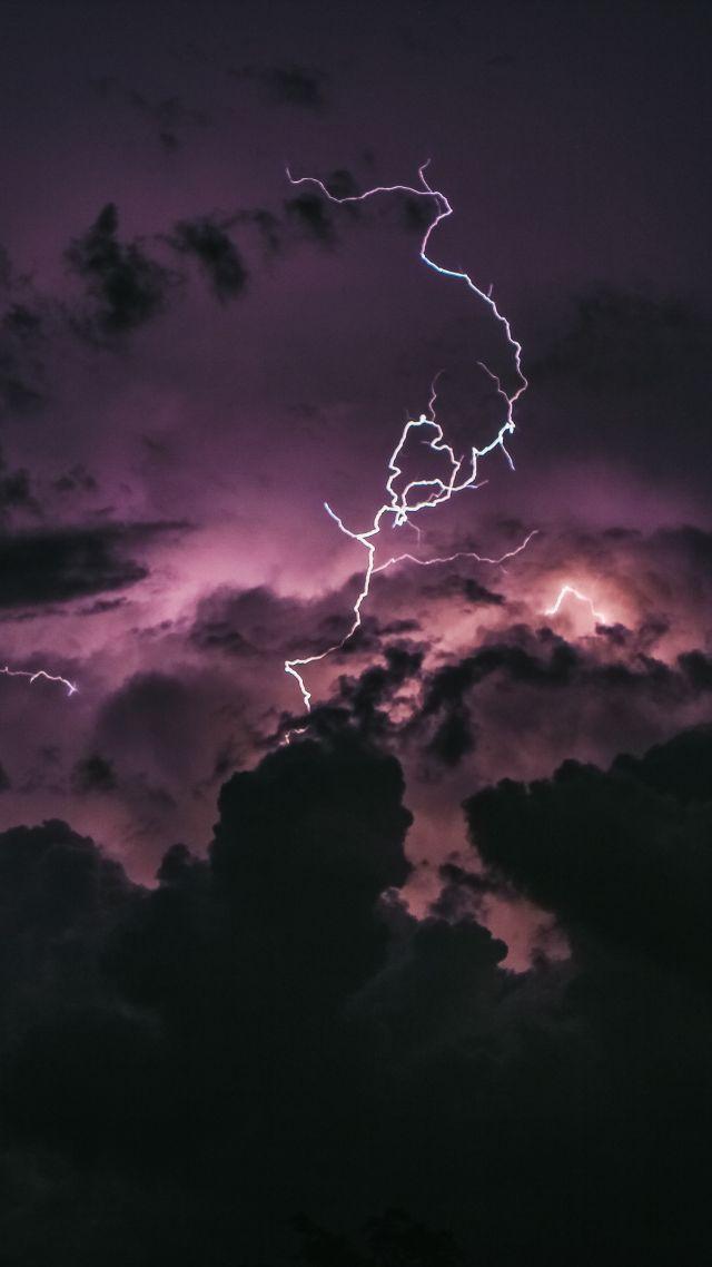 Wallpaper Storm Lightning 5K Nature 18686 640x1138