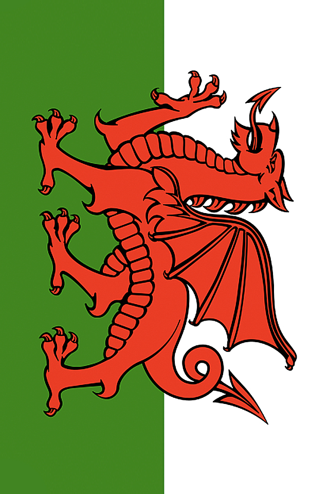 Wales Flag iPhone Wallpaper HD 640x960