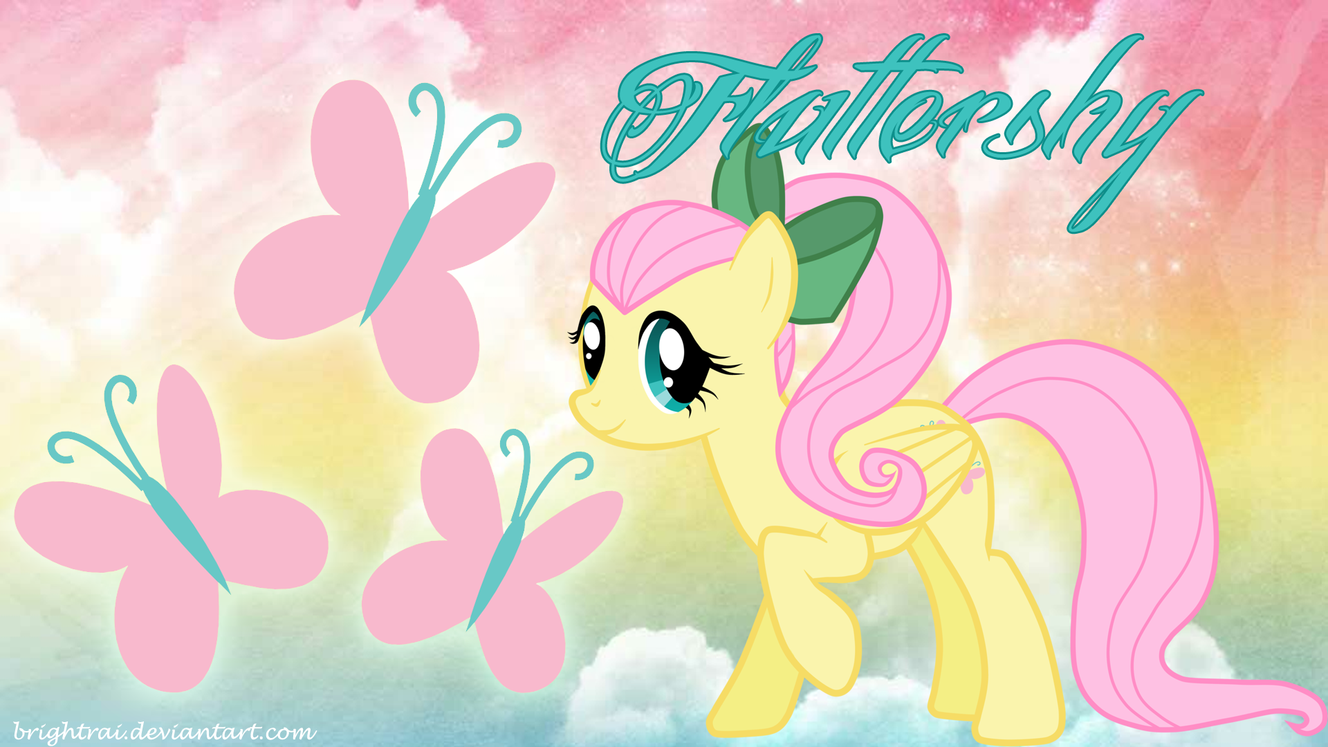 mlp fluttershy wallpaper wallpapersafari