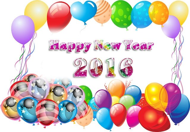 Balloons New Year Images 2016 640x444