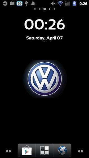 View bigger   LiveWallpaper Volkswagen Logo for Android screenshot 288x512