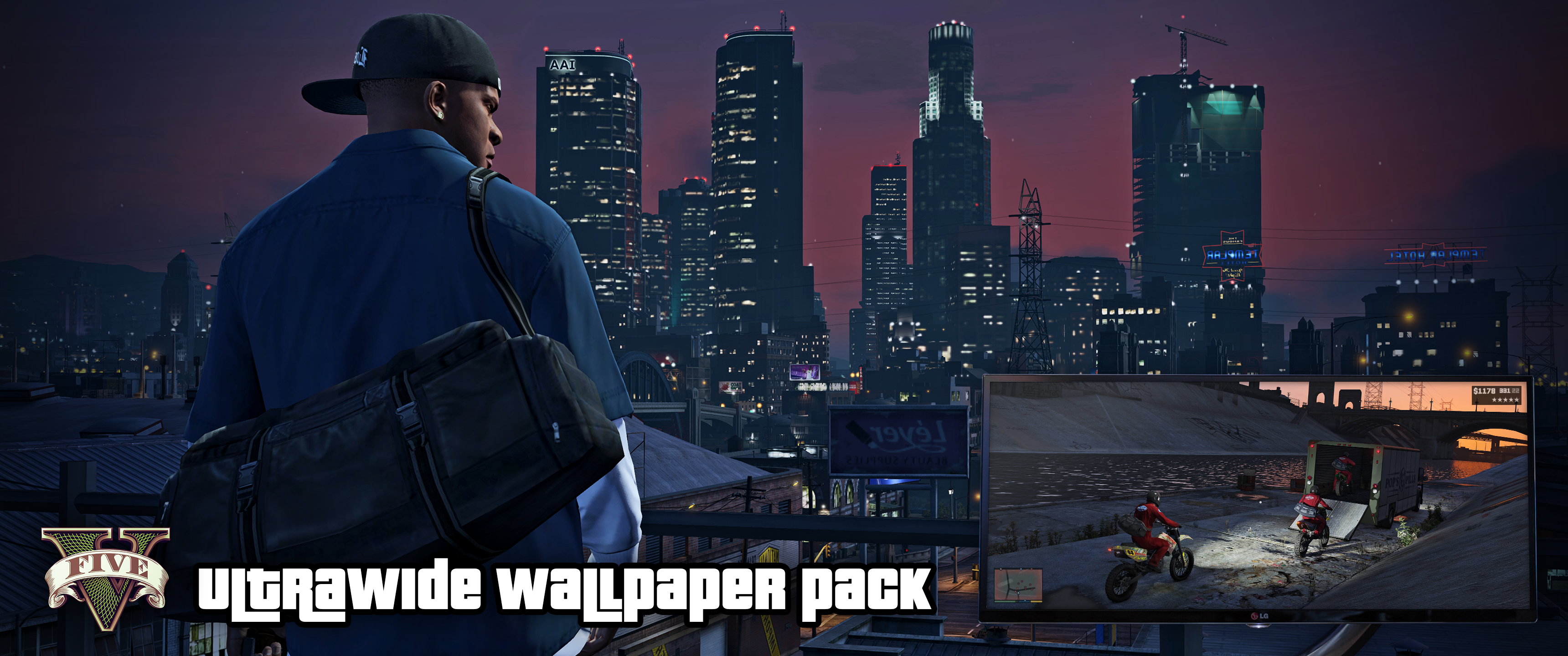 GTA V PC 3440x1440 Wallpaper pack Updated 3440x1440