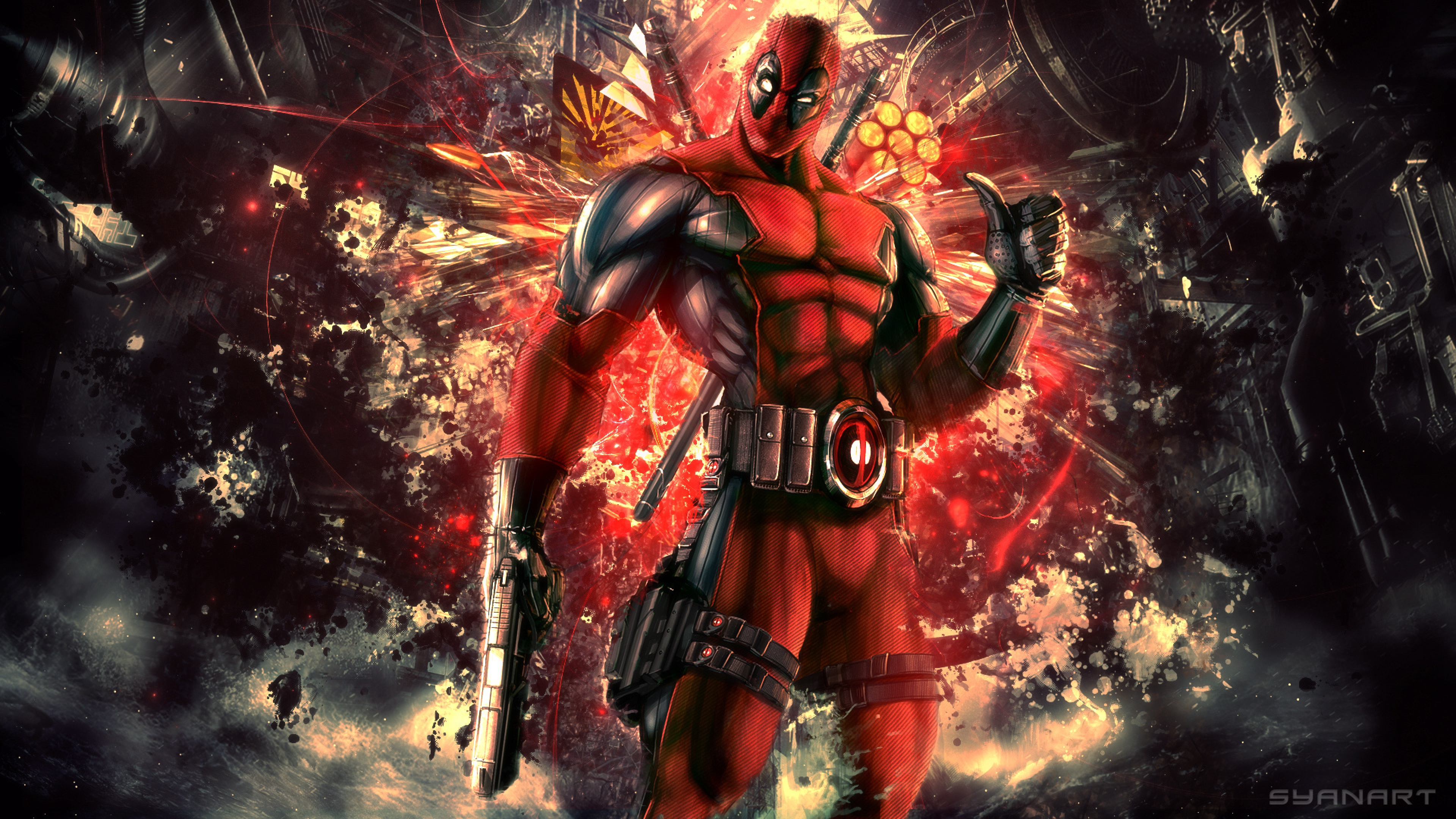 Download Wallpaper 3840x2160 Deadpool Abstract Mercenary Anti hero 3840x2160