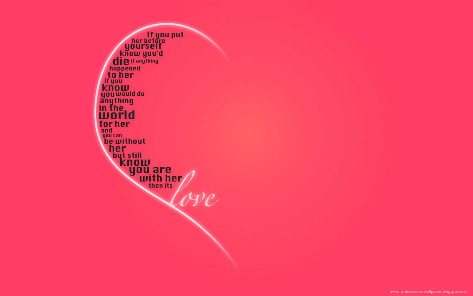 Love Quotes Wallpapers HD Wallpaper of Love 1600x1000