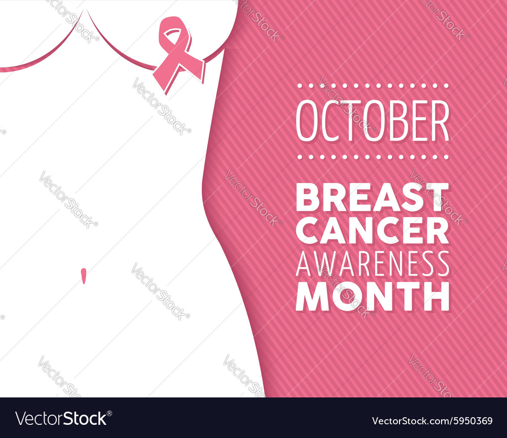 Breast cancer awareness campaign woman background Vector Image 1000x864