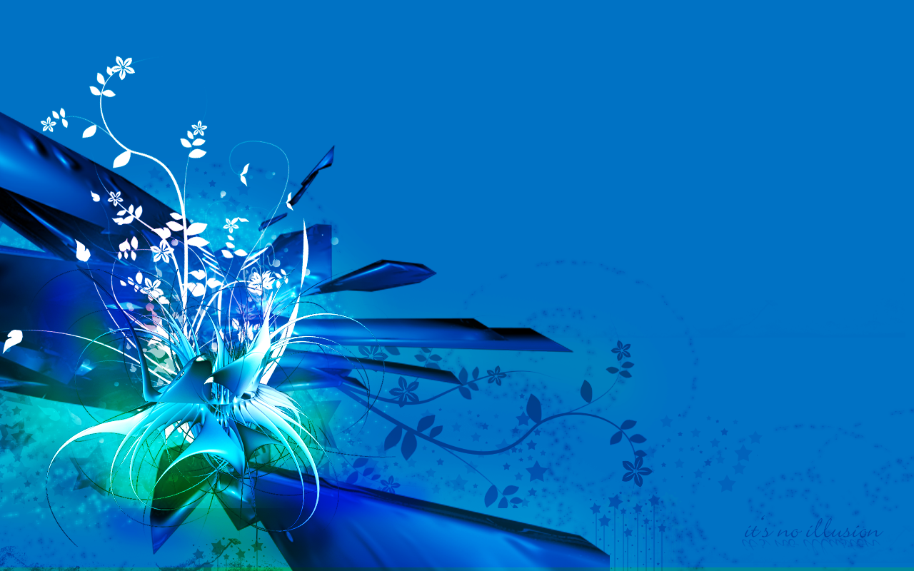 blue flowers wallpaper by noillusion customization wallpaper abstract 1280x800