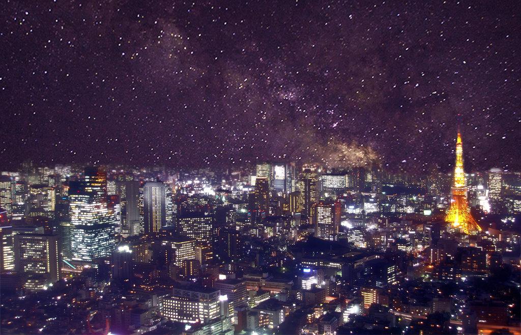 Tokyo at night wallpaper by MasterRoshii 1024x658