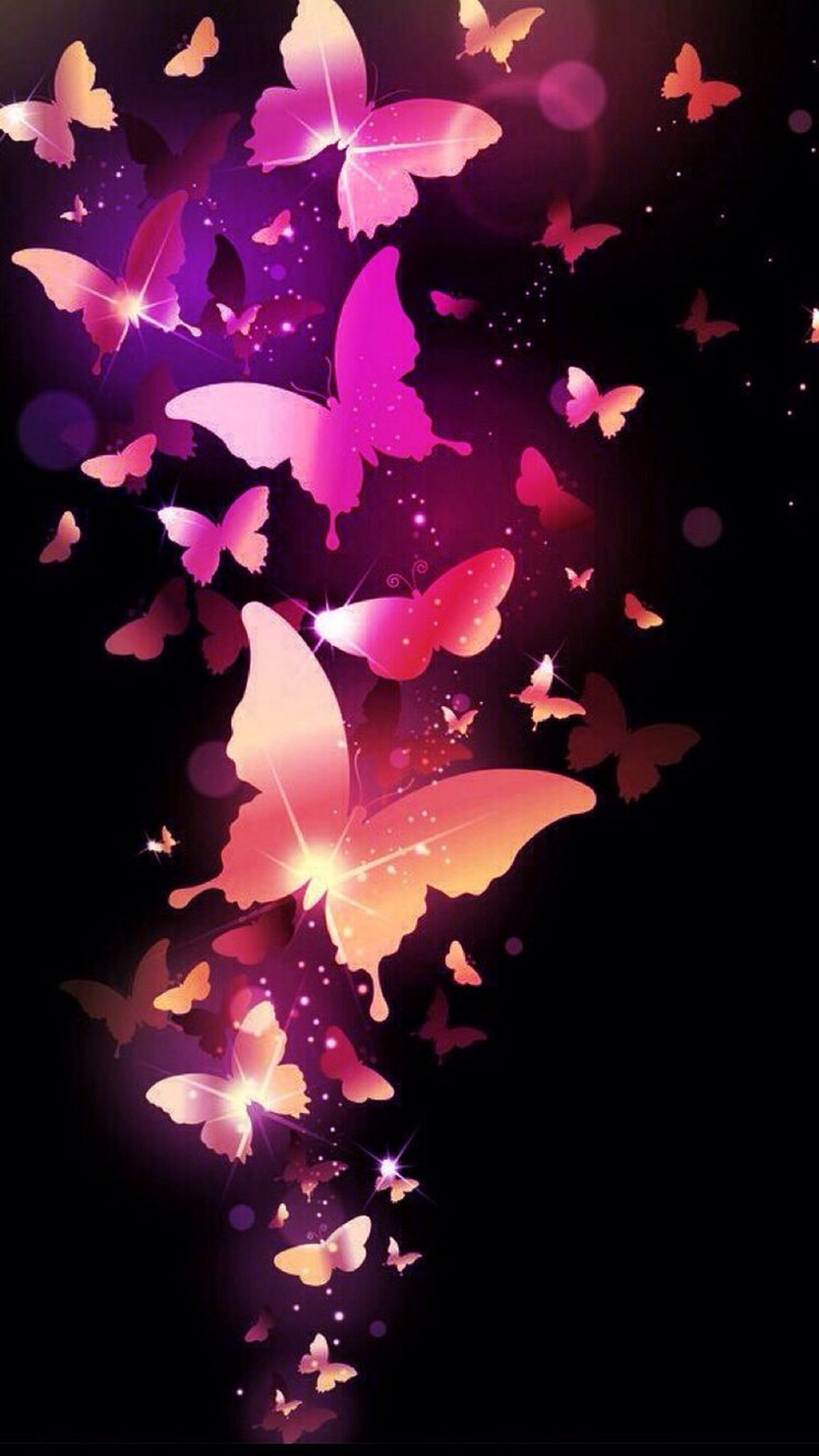 Free Download Wallpapers Phone Pink Butterfly 2019 Android
