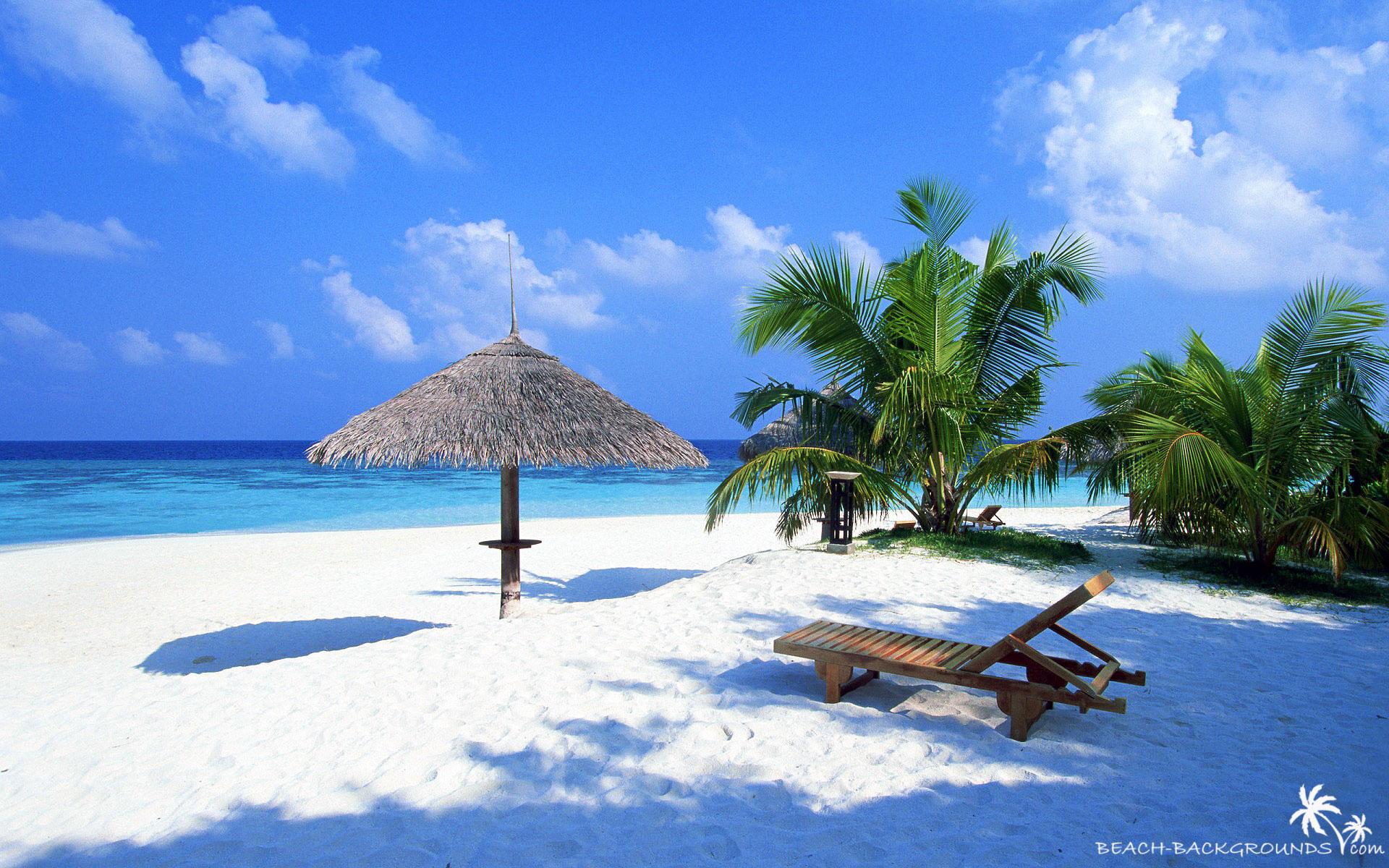 hd tropical island background umbrella 1920x1200