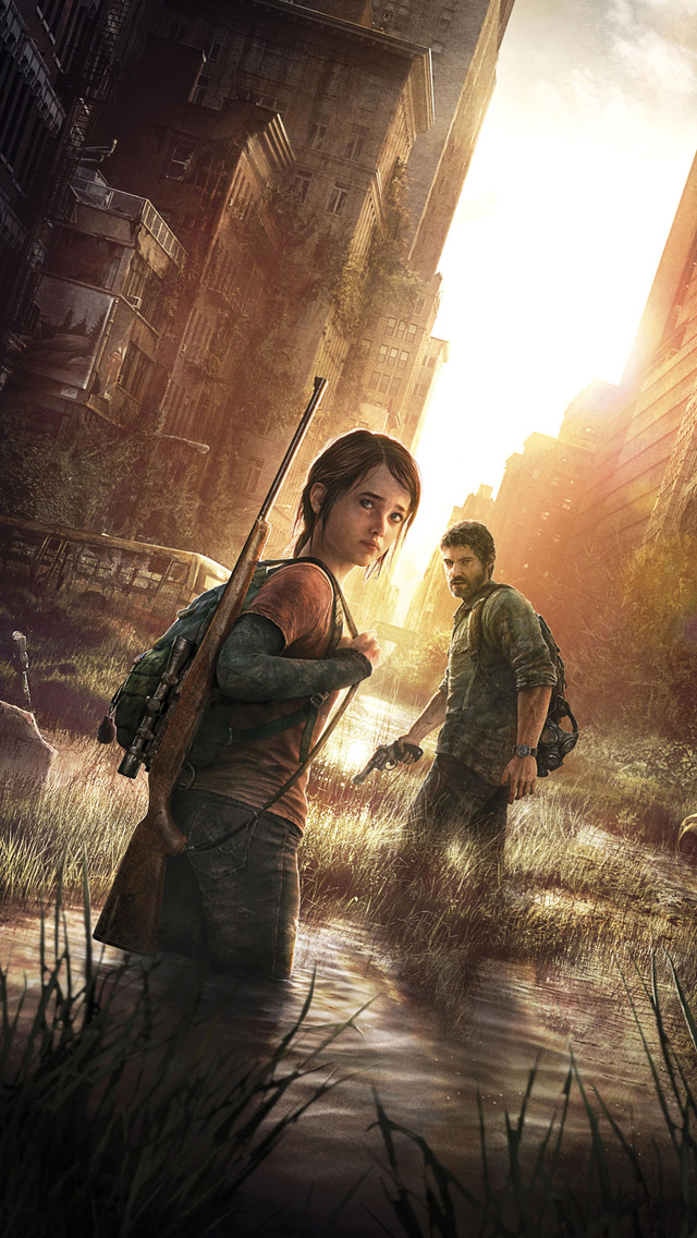 Ellie and Joel   The Last of Us Mobile Wallpaper 14041 640x1136