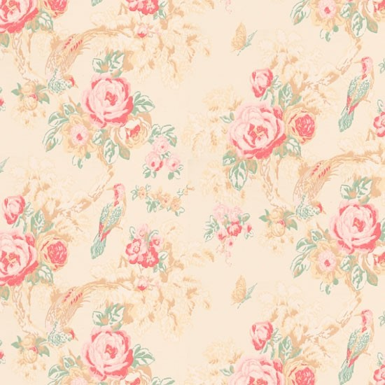 Country floral wallpaper Bird wallpapers Wallpaper Wallpaper 550x550