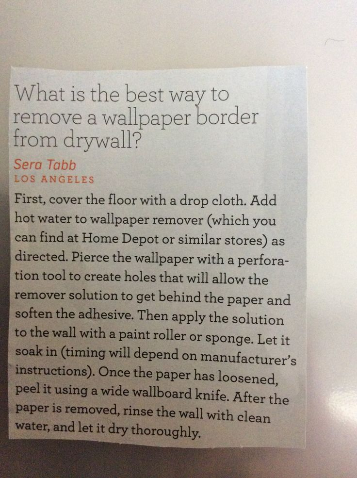How to remove wallpaper from drywall Home Pinterest 736x985