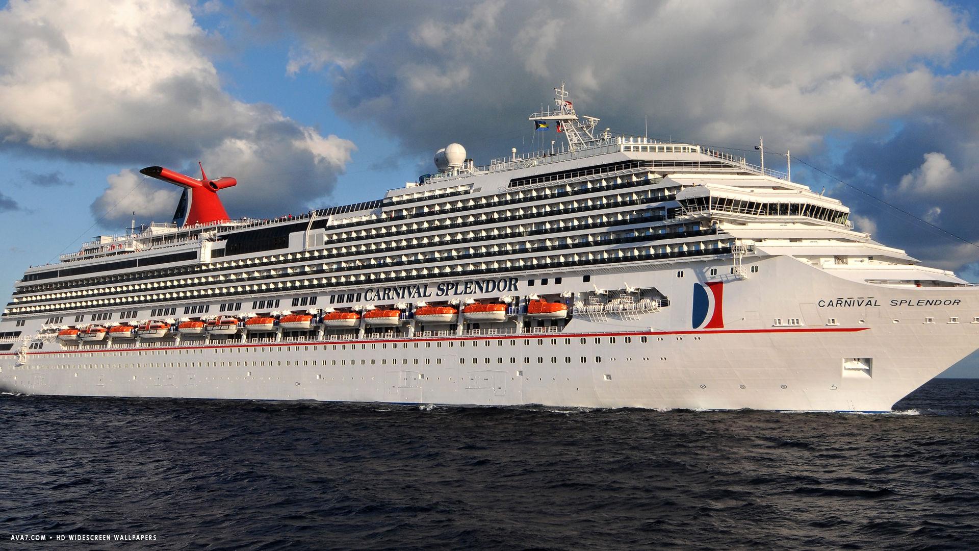 carnival splendor cruise ship hd widescreen wallpaper cruise ships 1920x1080